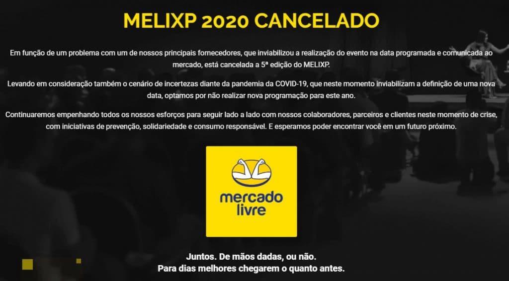 MELIXP cancelado em 2020