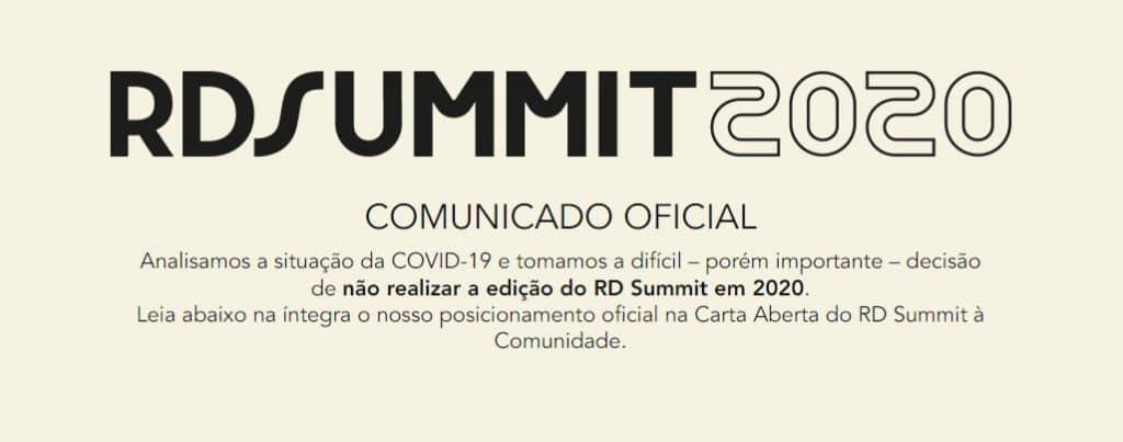 RD Summit adiado em 2020