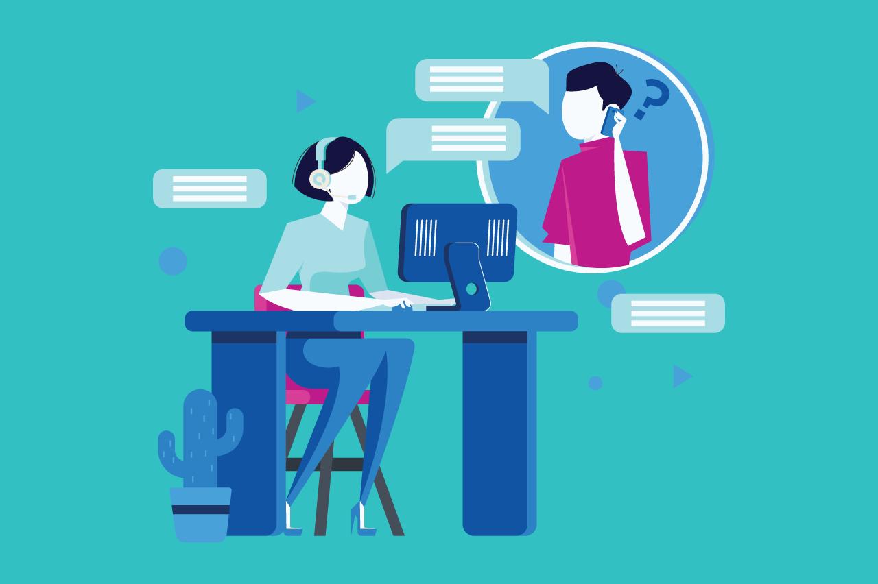 ilustração sobre VoIP para agências