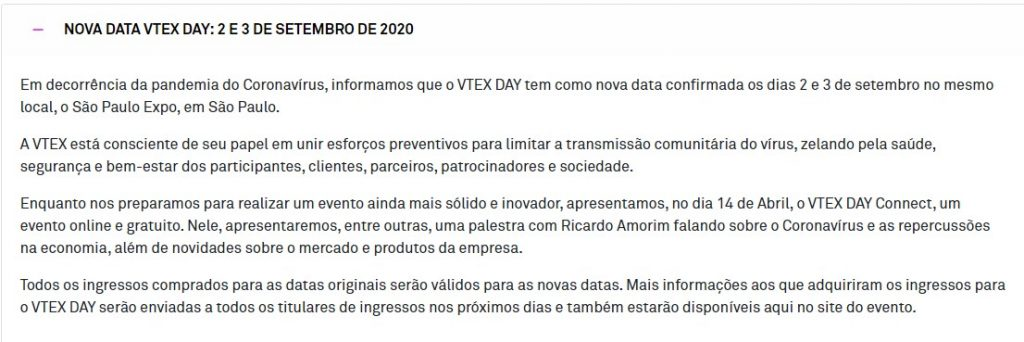 VTEX day adiado