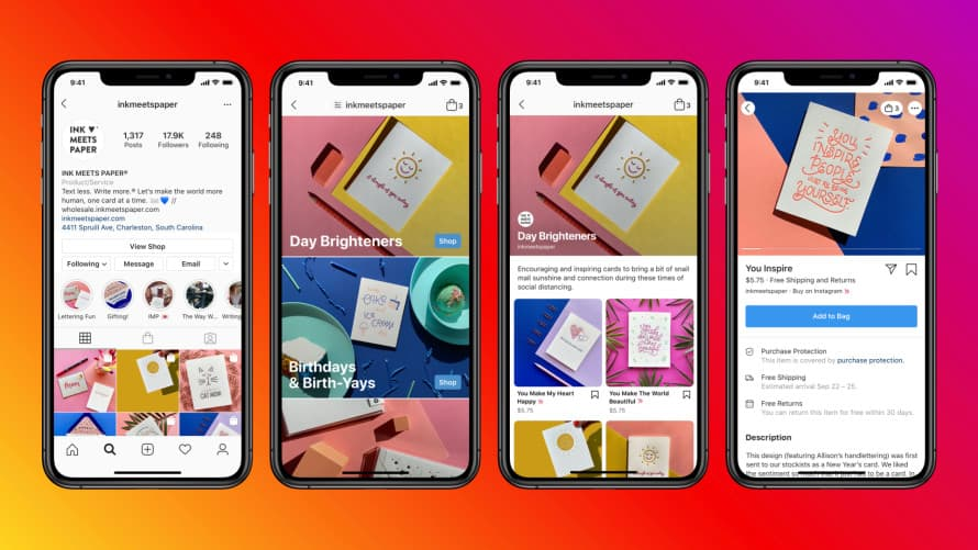 Instagram Shops funcionamento