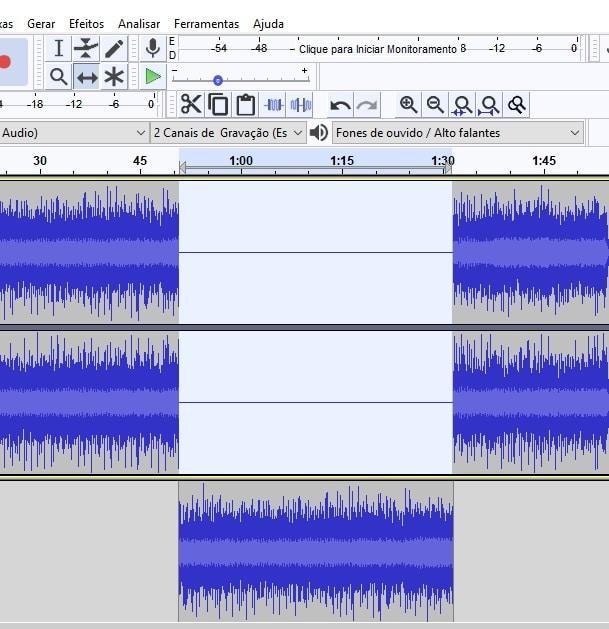Inserir música no áudio