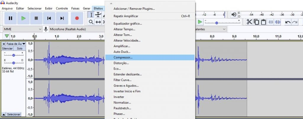 Compressão de áudio