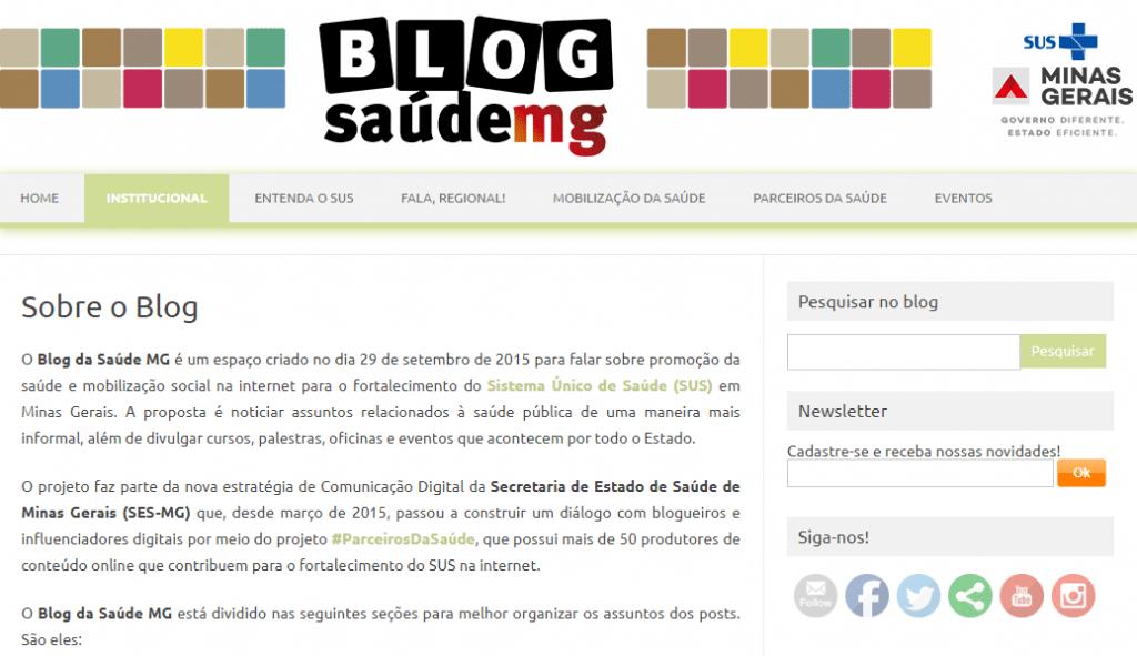 Blog saúde MG
