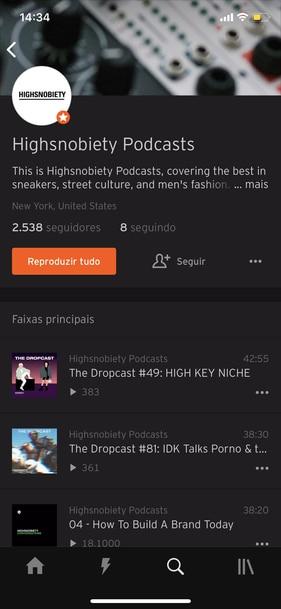 Podcast no Soundcloud
