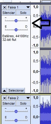Ajustar volume do áudio