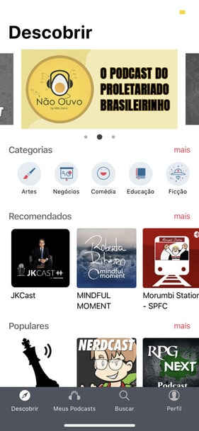 Podcasts no Wecast