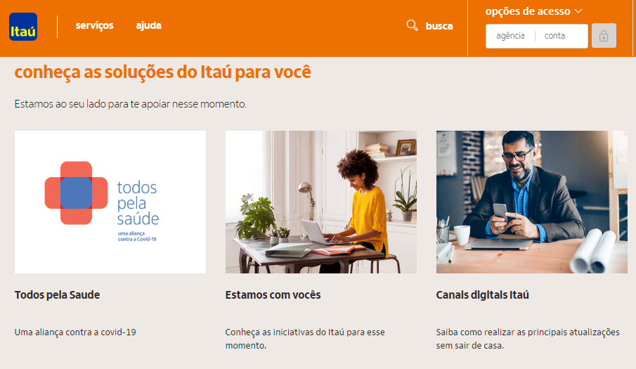 Ações sociais Itaú