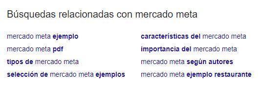 Buscas relacionadas no Google
