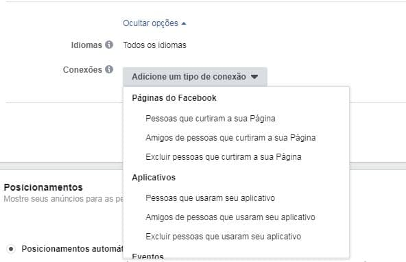 Conexões Facebook Ads