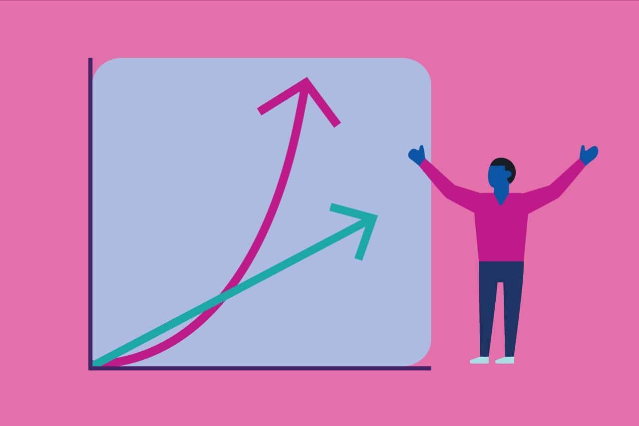 crescimento linear x exponencial
