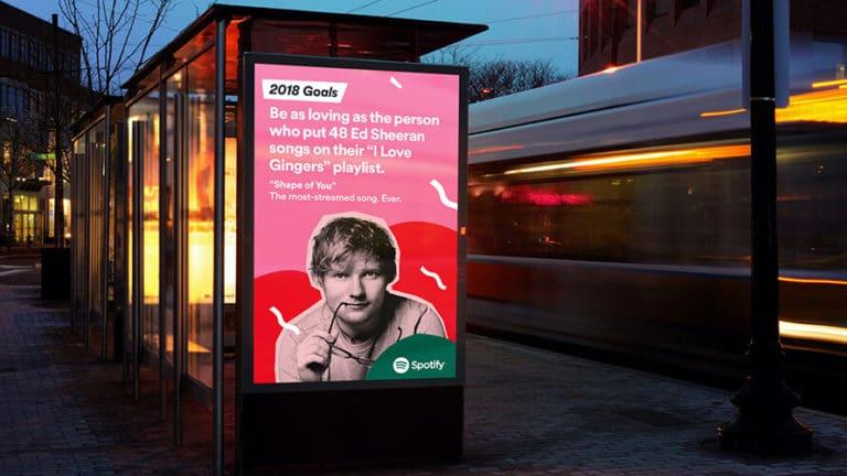Publicidade da Spotify usando storytelling
