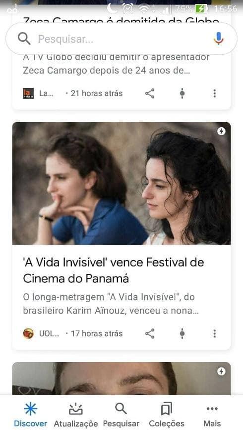Artigos no Google Discover
