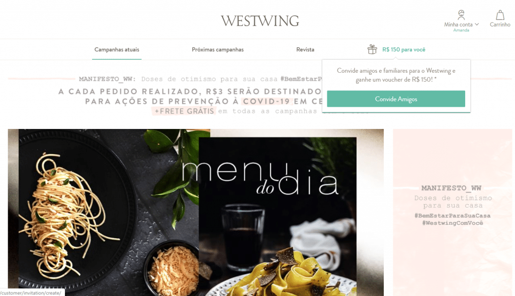 Foto site Westwing