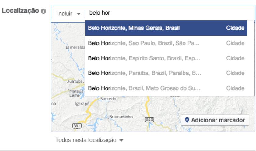 Localização no Facebook Ads