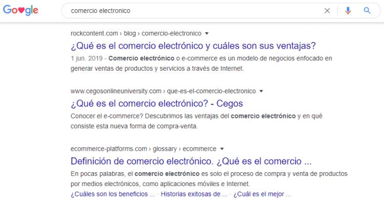 SERP mexicana para comercio electronico
