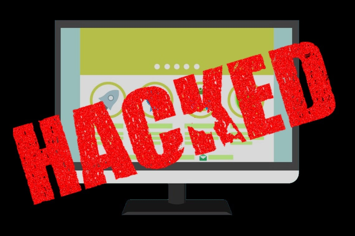 site wordpress hackeado