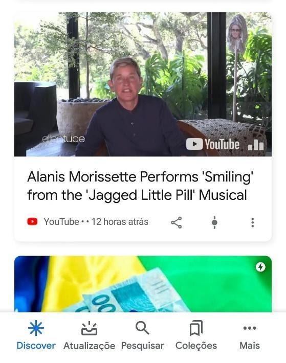 Vídeos no Google Discover
