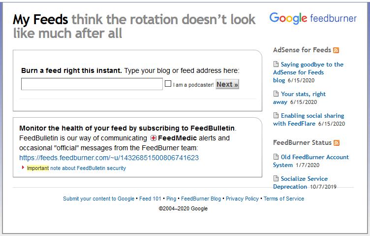 Acessar Google FeedBurner