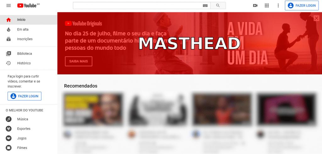 Anúncios de masthead