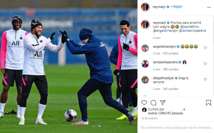 neymar treinando futebol