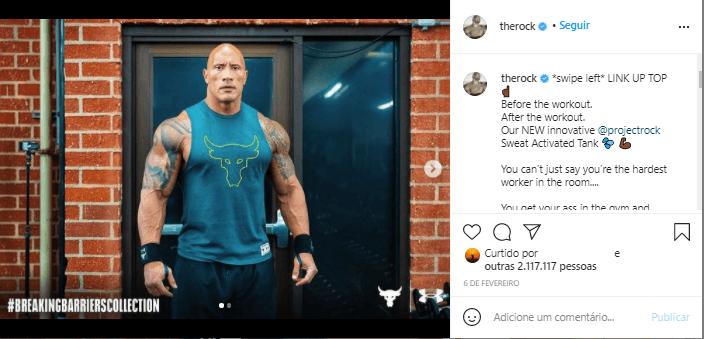 the rock perfil instagram