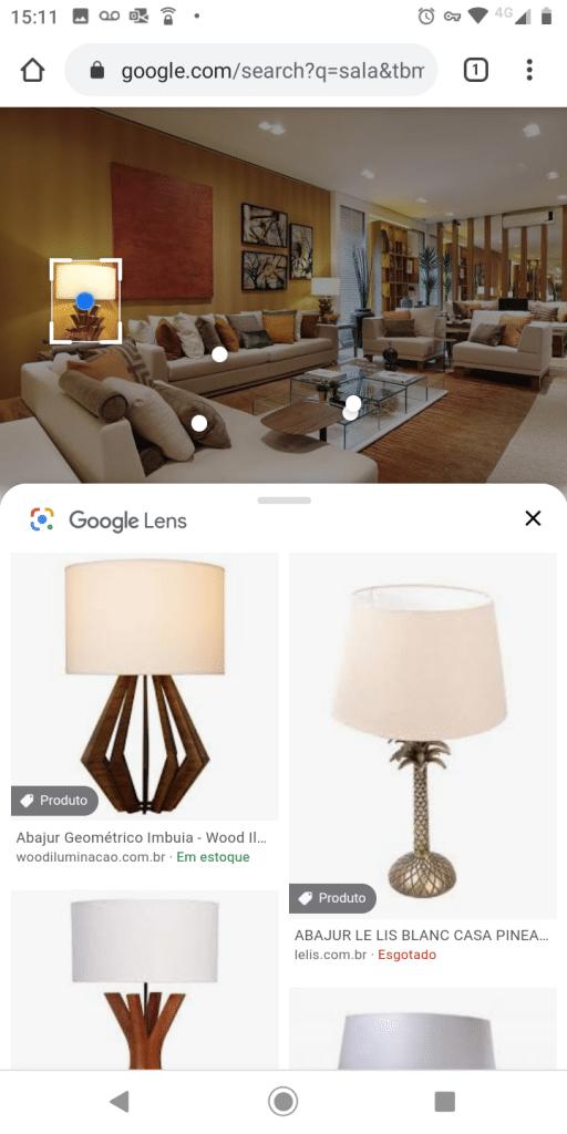 Pesquisa no Google Lens