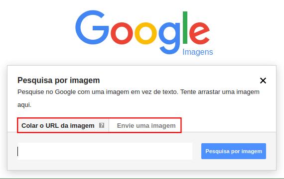 Pesquisa por imagem usando URL