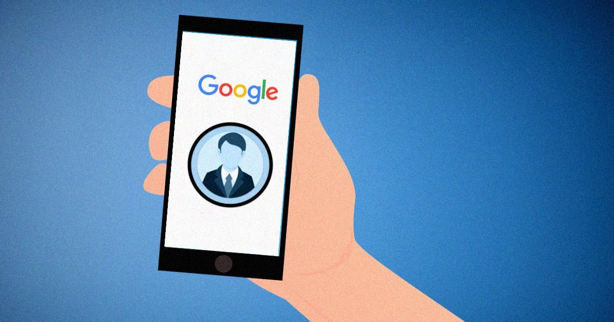 cartão de visita online do google