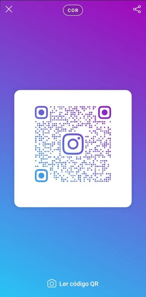 Criar código QR no Instagram
