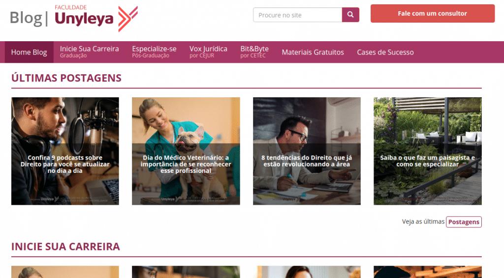 Exemplo de Marketing Digital Faculadade Unyleya