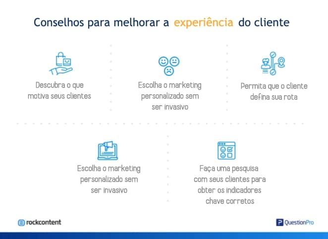 Conselhos para melhorar a experiência do cliente