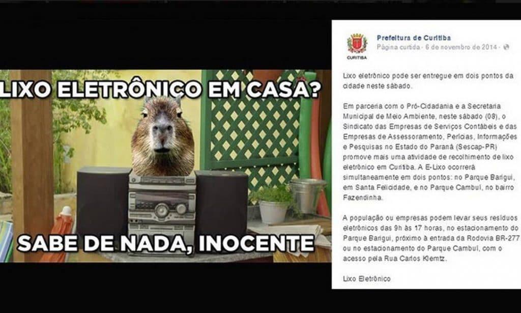 Exemplo de Marketing Digital Prefeitura de Curitiba