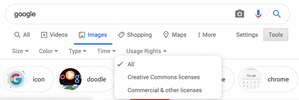 Pesquisa de imagem do Google passa a contar com Licenças Creative Commons
