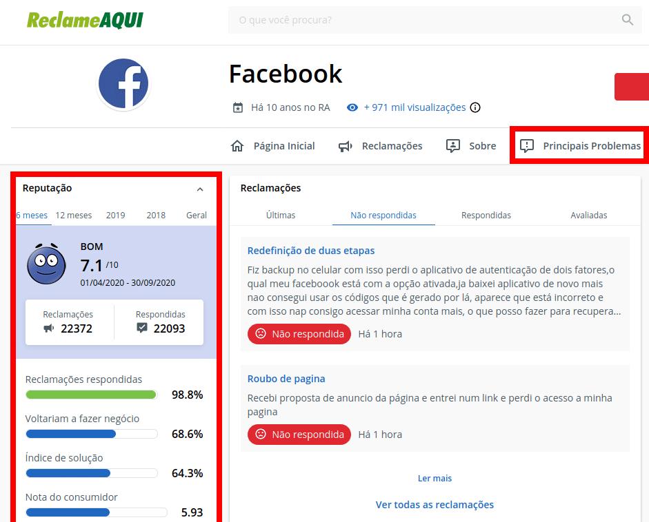 Reclame Aqui Facebook