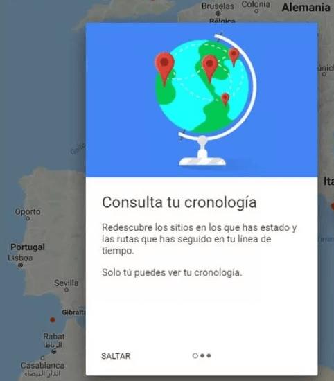 Consultar timeline no Google Maps