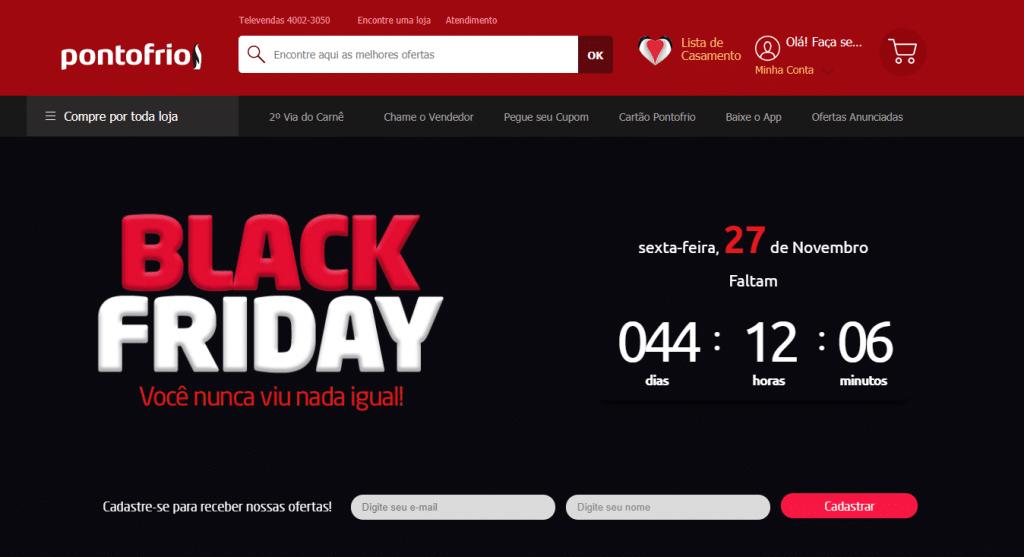 Landing page para Black Friday