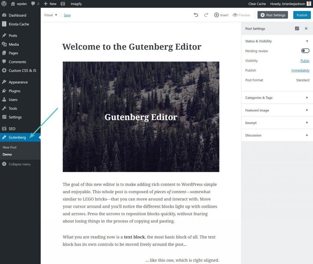 editor clássico wordpress