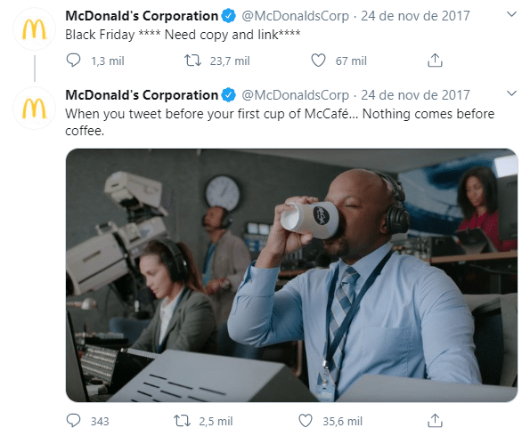 Twitter McDonald's