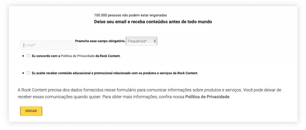 Assinar para receber conteúdos no email