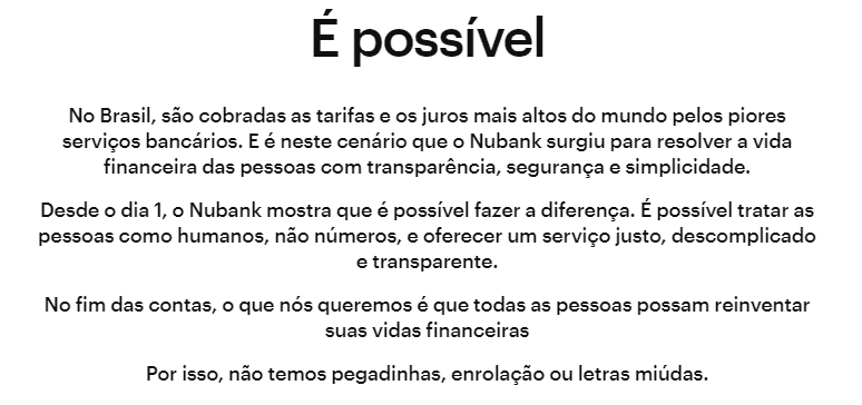 Propósito Nubank