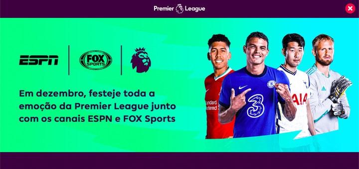 Página intersticial no site da Premier League