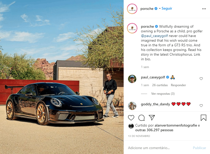 Post no Instagram Porsche