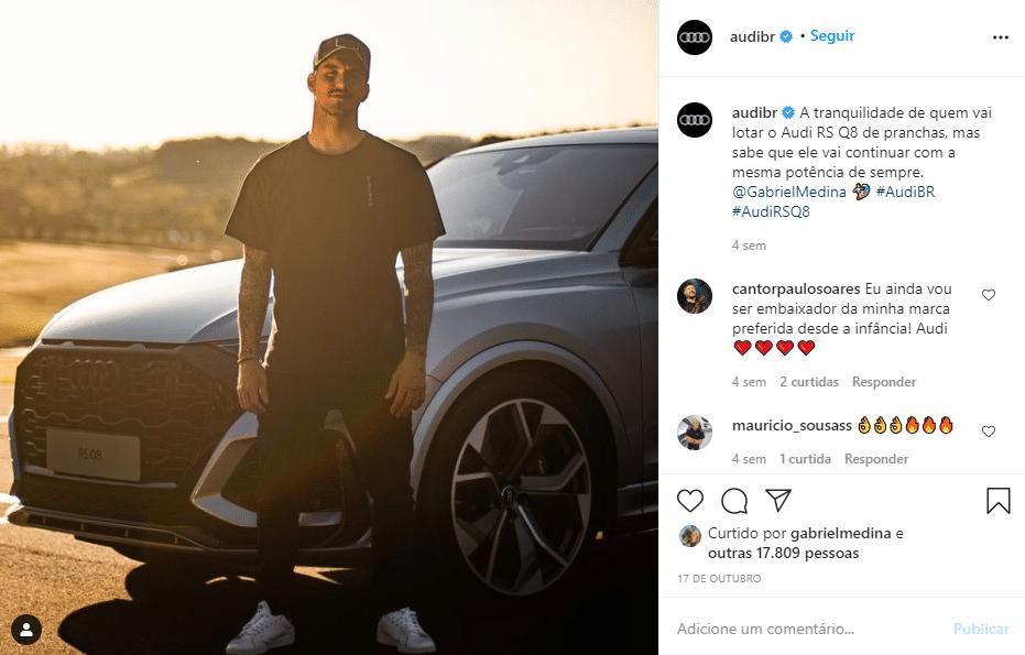 Post Audi no Instagram
