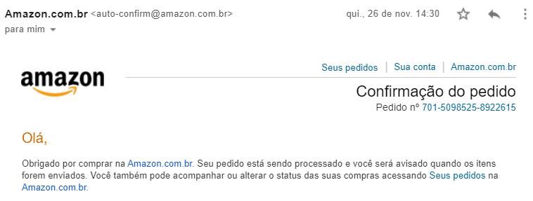 Email da Amazon