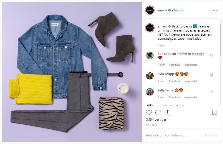 Amaro no Instagram
