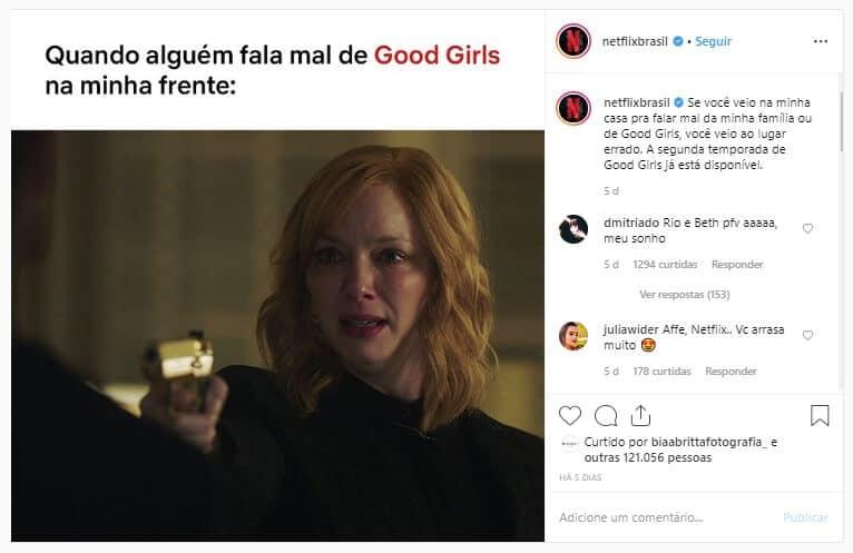 Netflix no Instagram
