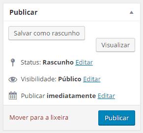 publicar no WordPress