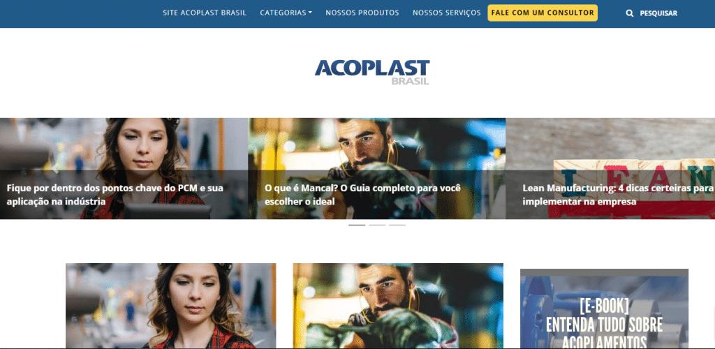 Site da Acoplast Brasil