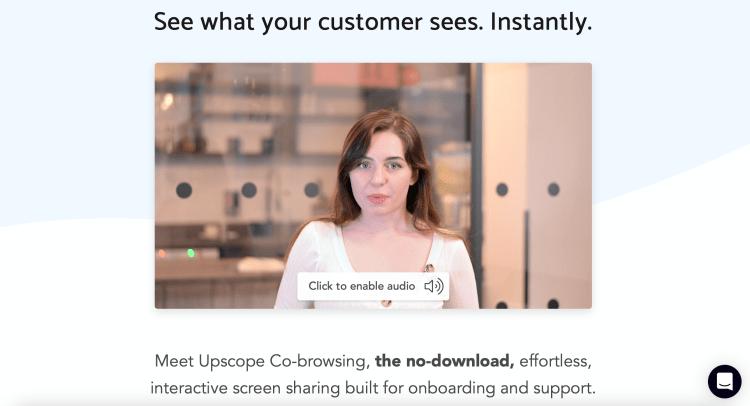 Upscope - do compartilhamento de tela à navegação em conjunto